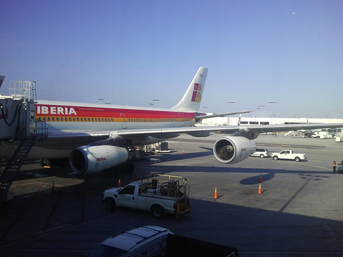 Iberia A340 at LAX Launch