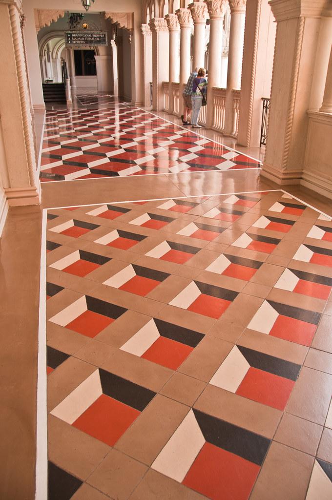 Fancy tiles in the Venetian Hotel, Las Vegas