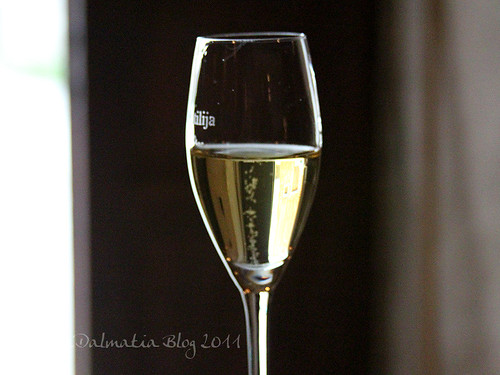 Butilija white in the glass