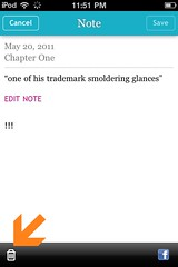 Kobo for iPhone: deleting a note