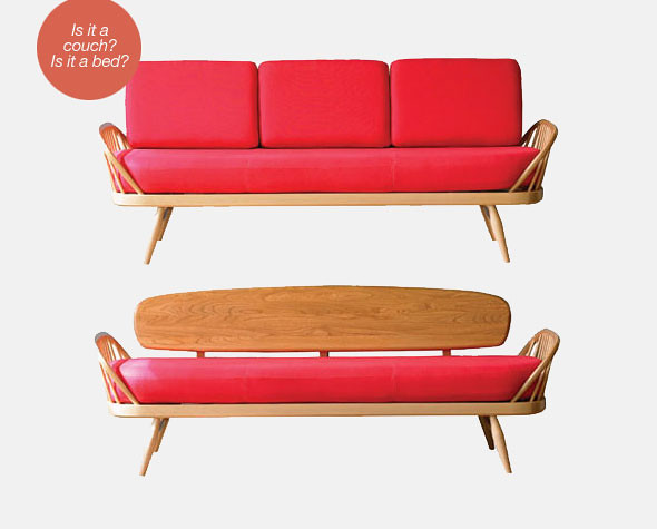 Ercol studio couch with and without cushions