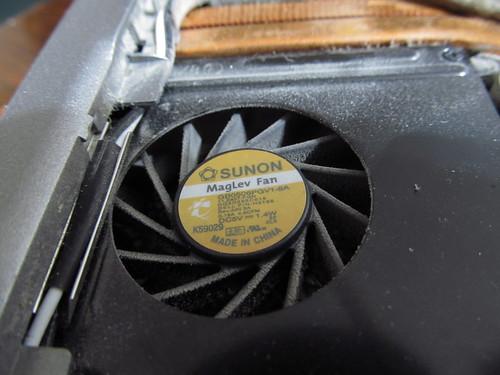 Ventilador viejo de mi laptop