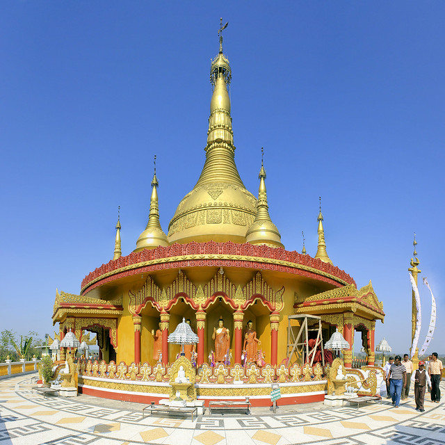 the Burmese golden stupa