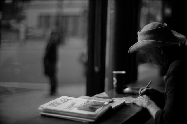 """""""Coffee shop cowboy"""" - Aaron RTS"""