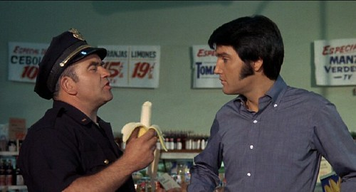 Elvis and Ed Asner2 in Glassmans