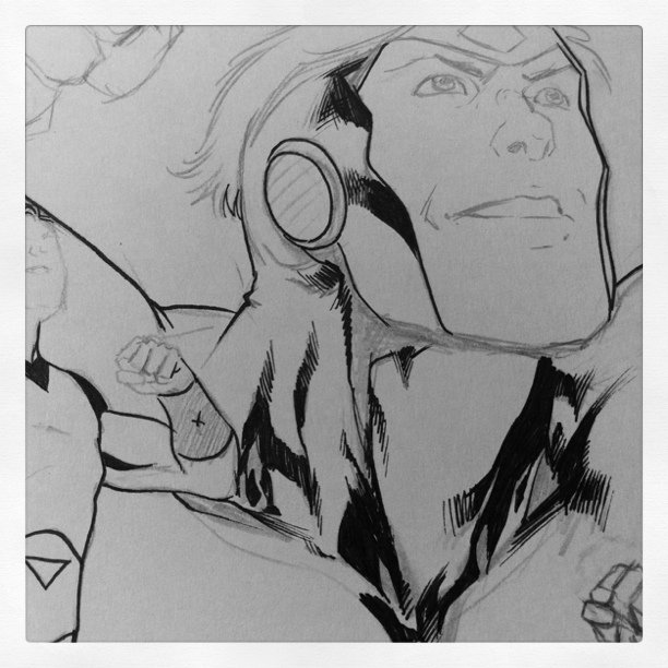 Inking #LegionOfSuperHeroes illustration #DCcomics #Comics