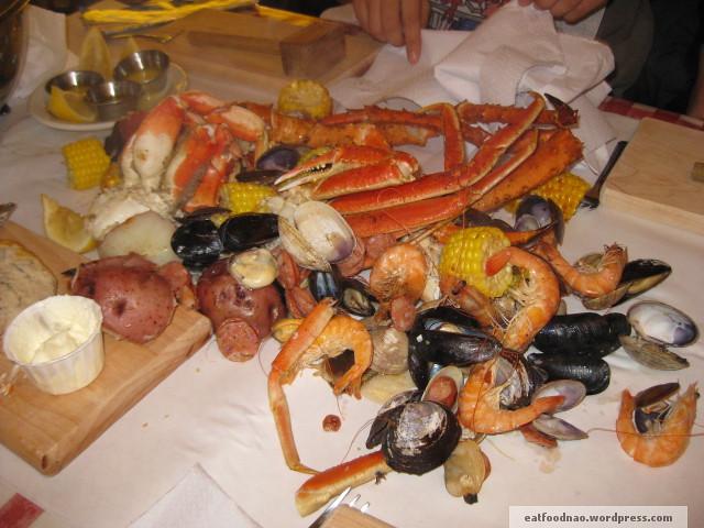 Alaskan seafeast spread