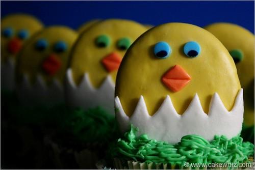 EasterChickCookieToppers