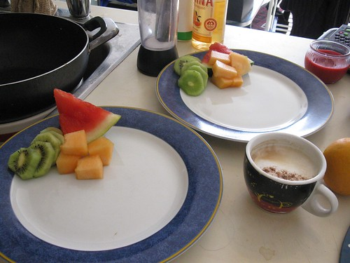 Breakfast prep: fruit
