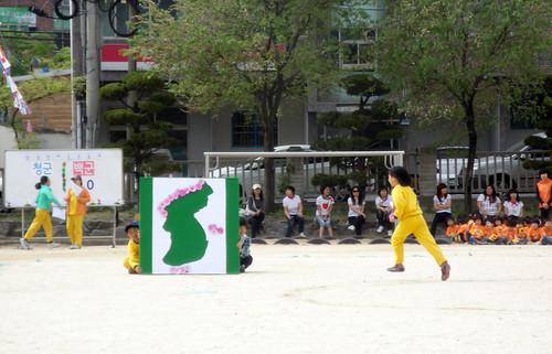 A third grader claiming Dokdo for Korea