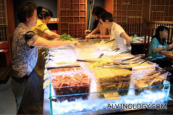 Participants enjoying the buffet spread