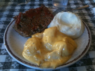 meatloaf & potatoes at Yoder's