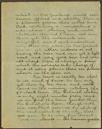 Letter to Hazel, 12/12/1914, from Zeitoun, Cairo