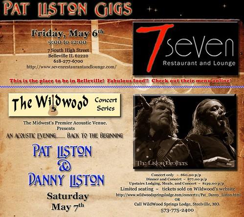 Pat Liston 5-6 & 5-7-11