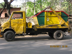 The PMC Garbage Collection Van on Ghole Road Pune
