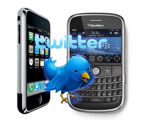 Twitter en el teléfono