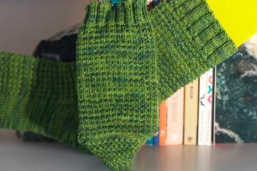 Ringwood Forest Socks: calf shaping