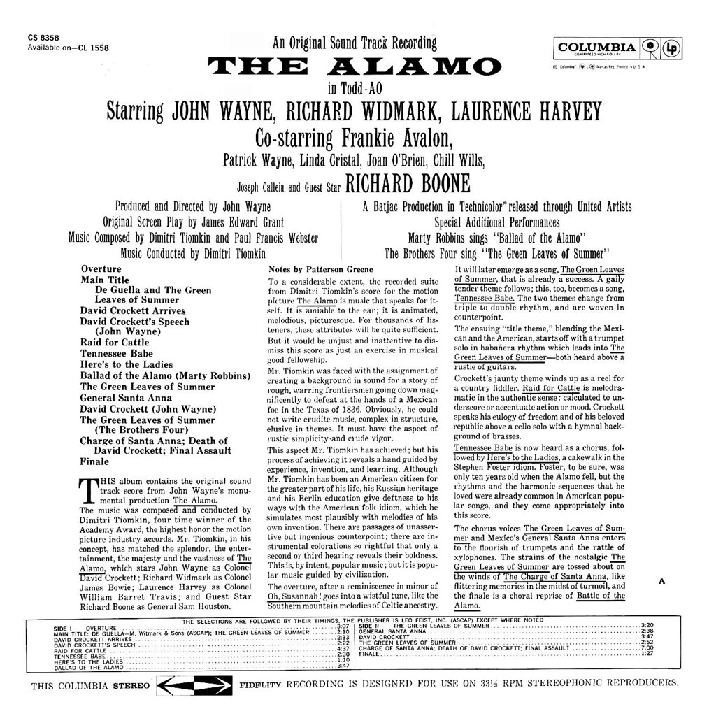 Dimitri Tiomkin - The Alamo