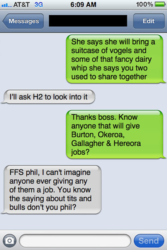 Txts from New York - Helen and Phil have a chat