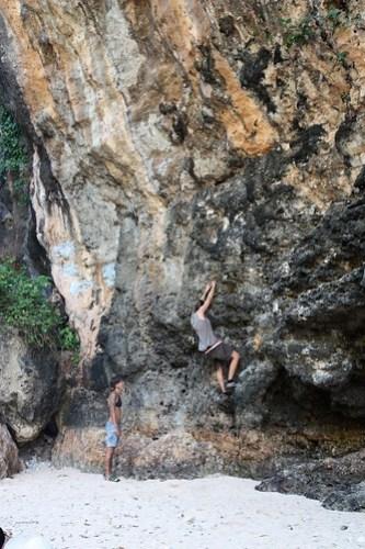 rock-climbing girls