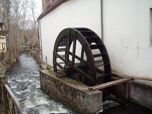 Wheel of a watermill in Buckow
