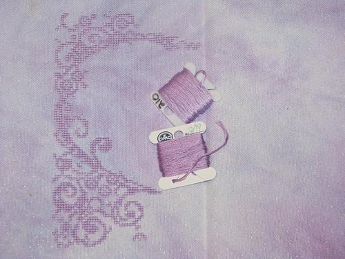 Lace Heart Wedding Sampler Progress