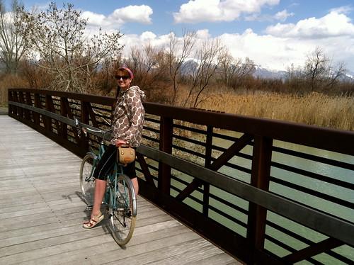 Betty riding the Jordan River