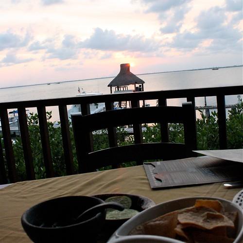 Sunset dinner at La Destileria- Cancun's canal side