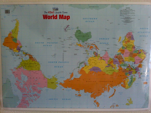 world map upside down