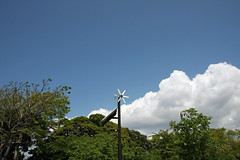 江の島めぐり―ガーデンパーラー脇の風車(Pinwheel, Enoshima, 2011)