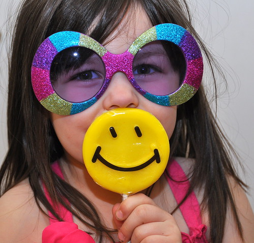 Little Sis Smiley at the party