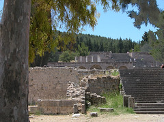 The Asklepion on the Greek island of Kos (Cos), where Hippocrates taught