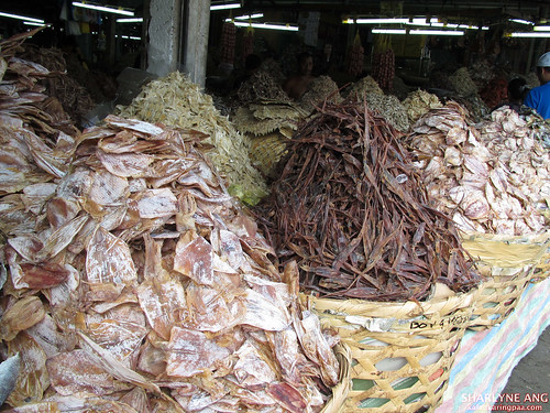 Different Varieties of Dried Seafood in Taboan Market