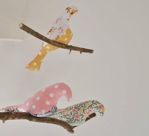 mobile oiseaux rose (2)