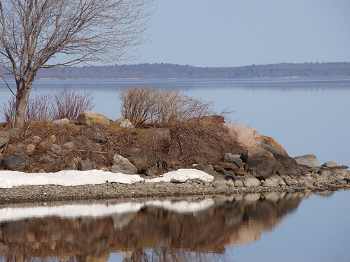 last trace of snow - east end of Georgian Bay near my home by William J. Gibson, the Canuckshutterer