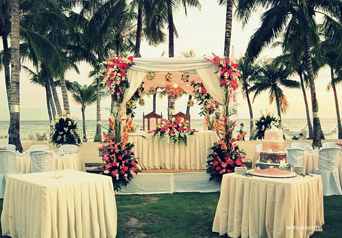 Wedding reception in Bohol Beach Club
