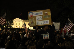 Outside of White House after death of Osama bi...