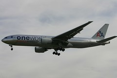 N796AN One World American Airlines LHR