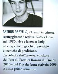 """Arthur Dreyfus, La chimica dell'incontro, Salani 2011; Progetto grafico: Elisa Zampaglione, """"In copertina: foto di Arthur Tress; risvolto della quarta di copertina (part.), 2"""