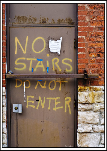 No Stairs Do Not Enter
