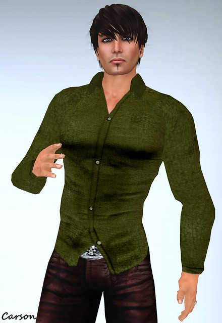 ROC Olive  Long Sleeved Open Shirt