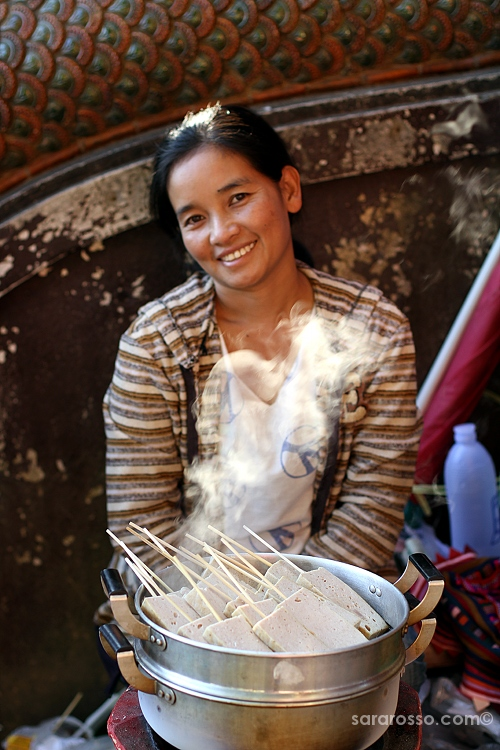 Thai Woman street food seller, Chiang Mai, Thailand
