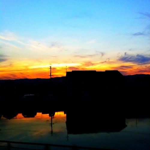 夕陽が映える。 さぁ、帰ろ! #Nara #sunset