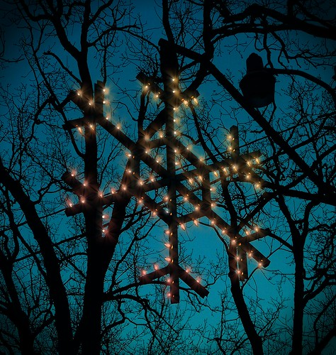 christmas snowflake maniped
