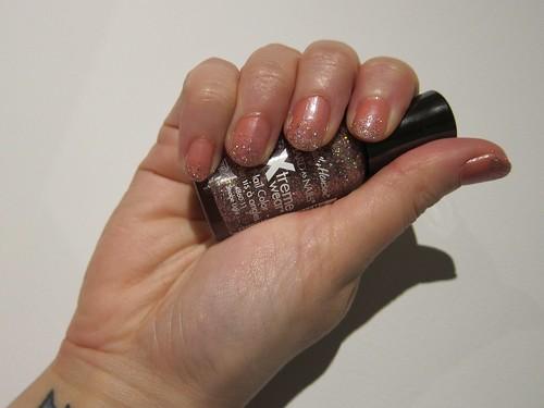 Pink Glitter Gradient Nails