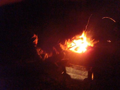 Me enjoying my fire