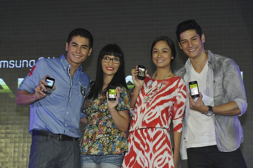 Fabio Ide, Steff Prescott, Kelly Misa and Hideo Muraoka for Samsung
