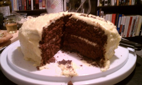 Chocolate Butter Cake with Orange Buttercream Frosting