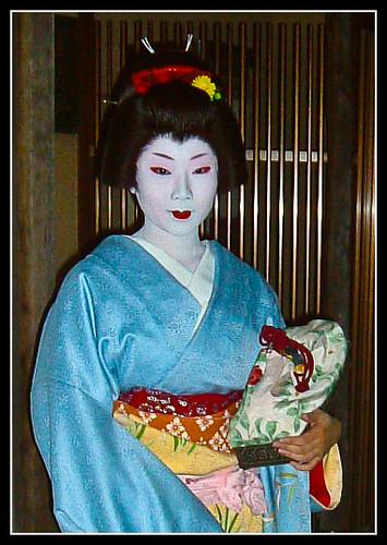 Geisha del distrito de Miyagawacho