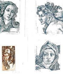 Particolari_Botticelli e Michelangelo